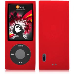 iCandy Silicone Case for 5th Generation iPod nano - Red